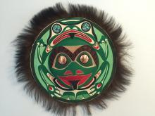 Patrick Amos, Nuu-chah-nulth, frog moon mask