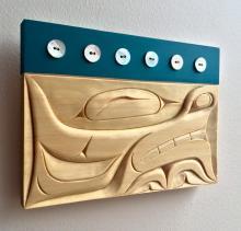 Blake Lepine, Tlingit , basswood carving