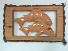 Patrick Amos, Nuu-chah-nulth, Salmon Plaque