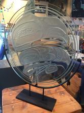 Terry Starr, Tsmishian, Raven panel in glass