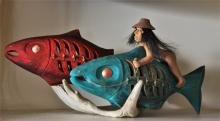 Pascal Pelletier, Cree, Salmon Rattle on antler