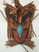 Leonard Scow, Alert Bay- Hawkman mask