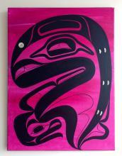 Blake Lepine, Tlingit , acrylic on canvas