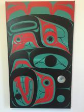 Blake Lepine, Tlingit- acrylic on canvas