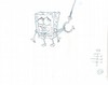 ORIGINAL  SPONGEBOB PRODUCTION DRAWING OF SPONGEBOB  FROM