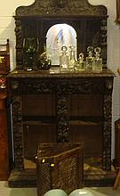 19th century carved oak cupboard