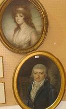 Pair of early 19th century portraits Lady &