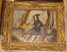 Still life Oil on canvas signed Furnber 1910