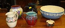 Honiton pottery, Longpark pottery etc. ( 6 pieces)