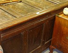18th century and later oak panelled coffer