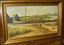 Old Jetty at Walberswick E Rickman oil on canvas