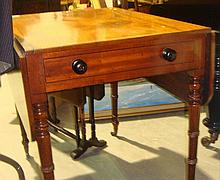 Victorian mahogany single drawer pembroke table