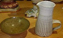 Penderleath Pottery, St Ives jug and one other
