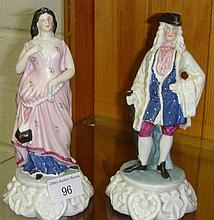 Pair of continental figures Lady and her Suitor