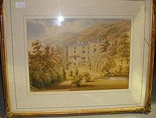 Late 19th century watercolour Mansion House F