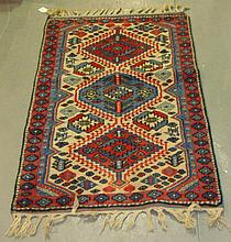 Modern rug with three central medallions