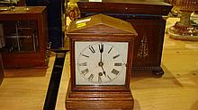 Oak case mantel clock