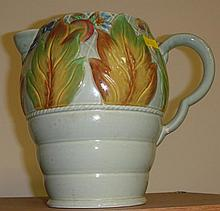 Clarice Cliff flower jug (handle A/F)