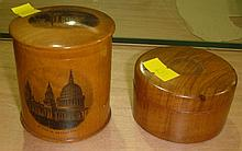 Mauchline ware box and one other