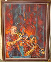 Painting by Diana Golledge oil on canvas The Jazz