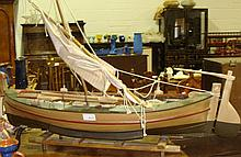 Hand crafted model of 19th century fishing yawl
