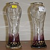 Pair of 19th century Art Nouveau vases marked D