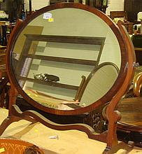 Mahogany swing mirror
