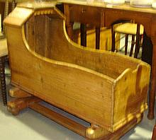 19th century rustic pine crib
