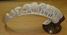 Early 20th century ivory tusk carving