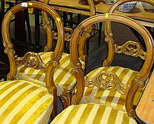 Set of four hoop back French dining chairs with