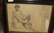 Giangiacomi pencil study of a nude male