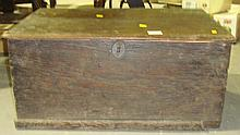 Early 19th century oak box