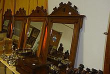 Set of 11 light oak carved oak mirrors