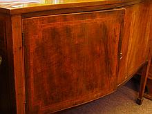 19th century shaped front inlaid mahogany