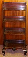 Early 20th century mahogany open bookshelf stamped