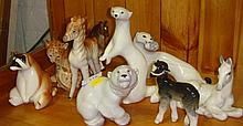 Collection of Lomonsov animals including Stoats,
