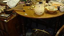 19th century oak gateleg table