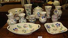 Large collection of Honiton pottery (11 pieces)