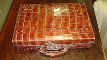 Crocodile skin bag and purse