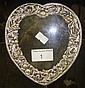 Embossed silver heart shaped photograph frame
