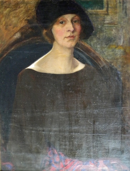 Florence Julia Bach  (1887-1978)  Portrait of a Woman, oil on canvas
