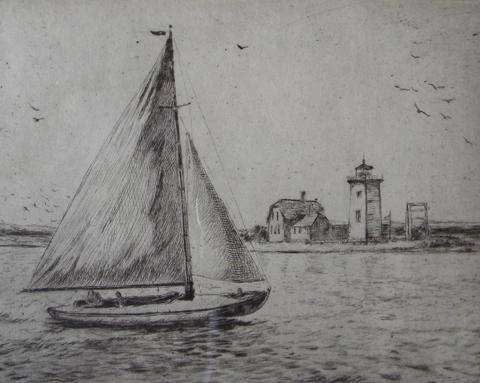 Albert  Edel  (1890 - 1961)  Long Point, etching