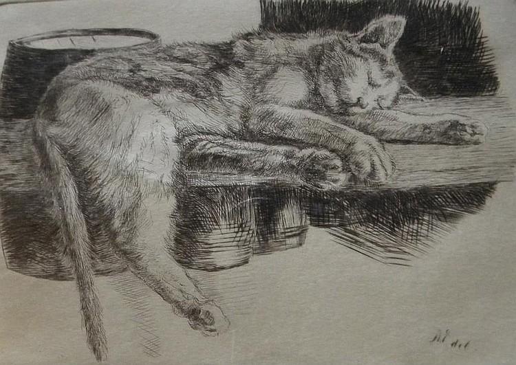 Albert  Edel  (1890-1961), Madame Joseph, etching