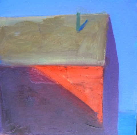 Chet  Jones  (contemp), Red Slanted Light, oil on canvas