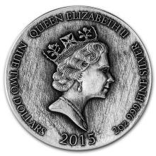 2 oz Silver Coin - Biblical Series (David & Goliath)