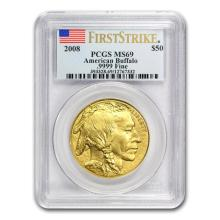 1 oz Gold Buffalo MS-69 PCGS (Random Year) (First StrikeMS69 or Black DiamondMS69) only 1 pc.