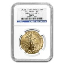 2011 1 oz Gold American Eagle MS-70 NGC (Early Releases)