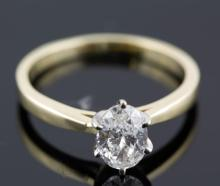 1.0 ctw Diamond Engagement  Ring 14K Yellow & White  Gold G-H,  SI3,  3.0 tgw |**Size:7.5