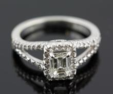 1.50 ctw Diamond Engagement  Ring 14K White Gold G-H,  SI1,  4.5 tgw|**Size:6.5