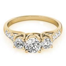 3.25 CTW Certified Diamond 3 Stone Bridal Ring 14K Yellow Gold - 25939-REF#645Z8T